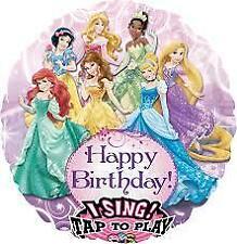 "Disney Princesses Singing Balloon 28"" Happy Birthday I Sing Balloon"