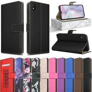 For Xiaomi Redmi 9AT Case, Magnetic Flip Slim Leather Wallet Stand Phone Cover