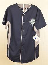 New Majestic Seattle Mariners Jersey MLB Baseball Kids Large (14-16) Blue