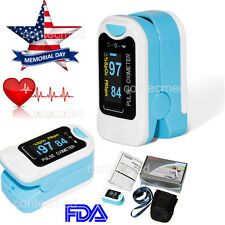 FINGERTIP PULSE OXIMETER SPO2 MONITOR BLOOS OXYGEN CASE FDA CE USA OLED DISPLAY