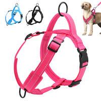 Harnais anti traction pour chien réfléchissant avec poignée réglable taille SML