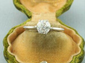 Antique 1.18ct Old European Cut Diamond Engagement Ring