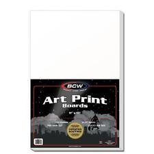 1 Pack of 100 BCW 11 x 17 Acid Free Art Print Backing Boards 11x17 White Backer