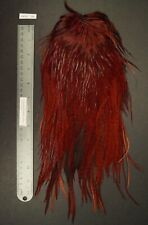 Commercial Keough Brown Dyed Variant Rooster Saddle Lot-Sf 293