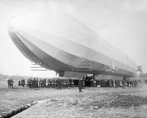 ZEPPELIN AIRSHIP / BLIMP NO. 3 ON GROUND 16x20 SILVER HALIDE PHOTO PRINT