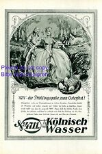 Perfume 4711 Austria ad 1929 Baroque rococo wig ball gown farthingale cleavage +