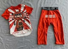 JOHN GALLIANO Kids BOYS MATRYOSHKA NINJA TOP & PANTS 2 PC SET SZ 24 MONTHS