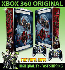 XBOX 360 OLD SHAPE BAYONETTA WITCH STICKER SKIN & 2 PAD SKINS