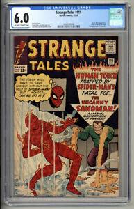 STRANGE TALES #115 CGC FN 6.0 SPIDER-MAN 2ND SANDMAN ORIGIN DOCTOR STRANGE