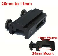 Mount Base Adapter 20mm to 11mm Dovetail Rail Extension Picatinny Weaver Scope