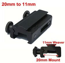 20mm Dovetail to 11mm Rail Mount Weaver Picatinny Rail Scope Base See Adapter
