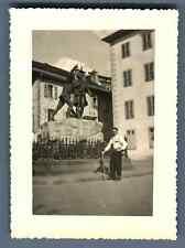 France, Chamonix, Monument Balmont   Vintage silver print.  Tirage argentique