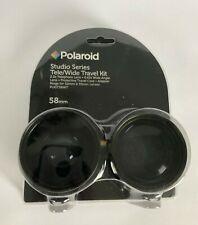 Polaroid 2.2x Telephoto Lens 0.43x Wide Angle Lens Travel Kit 58mm Studio Series