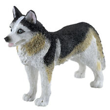 "Small Detailed Siberian Husky Dog Figurine Blue Eyes 3.5"" Long Resin New In Box!"