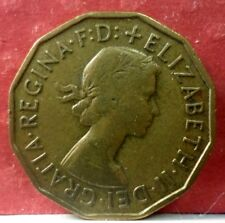 1954 Great Britain 3 Pence  KM# 900  A-180