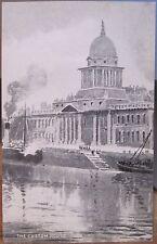 Irish Art Postcard CUSTOM HOUSE R Liffey DUBLIN Ireland Josephine Carson Sketch