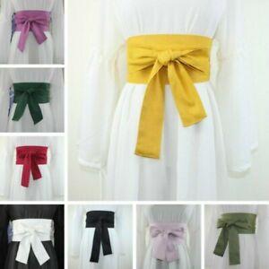 Lady Japanese Wide Belts Extra Corset Waistband Obi for Kimono Yukata Retro Chic