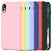 Liquid Silicone Gel Rubber Slim Fit Soft Mobile Phone Case For iPhone X 8 7 Plus
