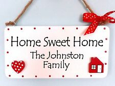 Housewarming gift for family or friend, Personalised Home sweet home sign plaque