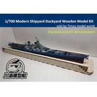 1/700 Modern Shipyard Dockyard Diorama Platform DIY Wooden Assembly Model Kit