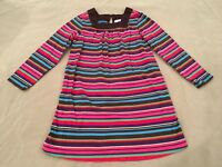 Hanna Andersson 120 Tunic Top Brown Striped Long Sleeve