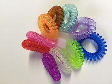 Haargummi Kunststoff-Spirale Telefonkabel elastisch Haarschmuck 10er Set Stück