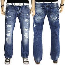 Redbridge by CIPo & BAXX Jeans Herren vintage Destroyed style Denim Hose RB157