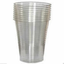 100 x Clear Plastic 7oz Disposable Vending style Cups for take away & Office