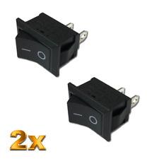 20tlg mini Wippschalter Wippenschalter Rund Schwarz KCD1 230V 6A