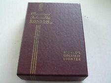 RONSON MASTERCASE LIGHTER/CIGARETTE CASE ORIGINAL BOX