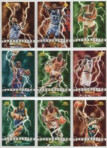 1995-96 Skybox Premium Electrified insert set Michael Jordan SP Shaquille O'neal
