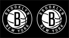 Two (2) Brooklyn Nets Decals Black White Pink * Free Shipping *