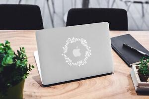 Floral Wreath Decal for Macbook Pro Sticker Vinyl Laptop Mac Air Notebook Skin