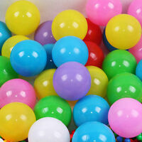 100X Multi-Color Cute Kids Soft Play Balls Toy for Ball Pit Swim Pit Ball Pool U