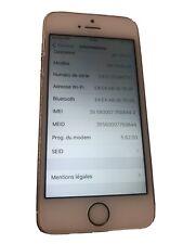 iPhone 5 SE - rose Gold Pink  model A1723 Accès Menu Avec iCloud