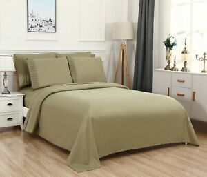 Bed Sheet Set, Deep Pocket 6 Piece w/ Flat and Fitted, Super Soft, Bamboo.