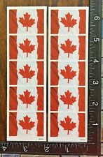CANADA DAY FLAGS, TWO LITTLE SHEET STICKERS BEAUTIFUL DESIGNS #FLAGS7