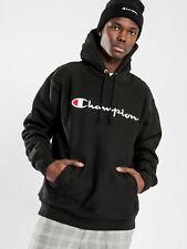New Champion Mens Reverse Weave Pullover Hoodie In Black Hoodies & Jumpers
