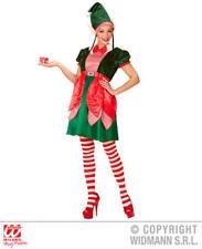 Womens Ladies Elf Girl Christmas Fancy Dress Costume Santas Helper Outfit M