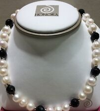 Honora Freshwater Pearl & Black Onyx Necklace LN5577WH18