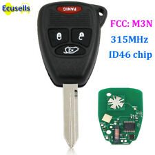 Remote Key Fob 3 Button Chip ID46 for Chrysler Pacifica Jeep Liberty M3N5WY72XX