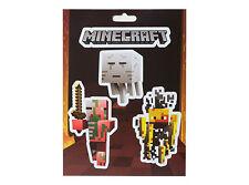 Minecraft Logo & Mobs Nether Monster Sticker Decal 4-piece set OFFICIAL LICENSED