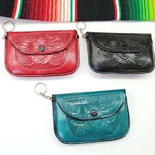 Mexican Leather Mini Coin Purse. Key Ring. Souvenir. Recuerdo Oaxaca. Monedero.