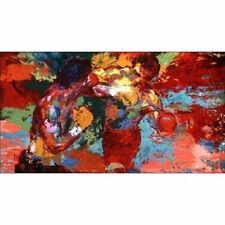 """Leroy Neiman Rocky vs Apollo""Handcraft Portrait oil painting On Canvas No Frame"