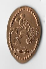 Disney Disneyland 1996 Mickey Mouse Playing Soccer Retired Pressed Copper Penny