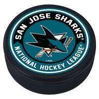"San Jose Sharks Arrow Design 3D Textured ""Raised Letters"" Hockey Puck  - NEW"