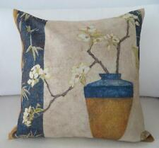 Beautiful Orchids Vase Hamptons Linen Blend Cushion Cover 45cm