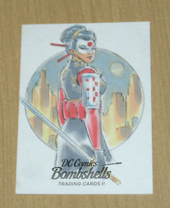 2018 Cryptozoic DC Bombshells II sketch card 1/1 art Mitch Ballard b