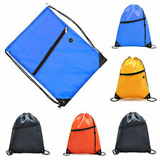 Drawstring Bag Solid Sport Gym Swimming Cloth Shoes Backpack Pull String Bags