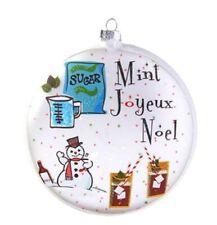 """Raz HOLIDAY SPIRITS Glass Ornament 5"""" Cocktail """"Mint Joyeux Noel"""" 3952852"""
